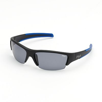 FILA SPORT Polarized Semirimless Blade Sunglasses