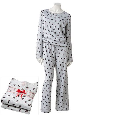 Croft and Barrow Pointelle Pajama Gift Set - Women's Plus
