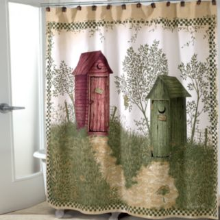 Avanti Outhouses Fabric Shower Curtain