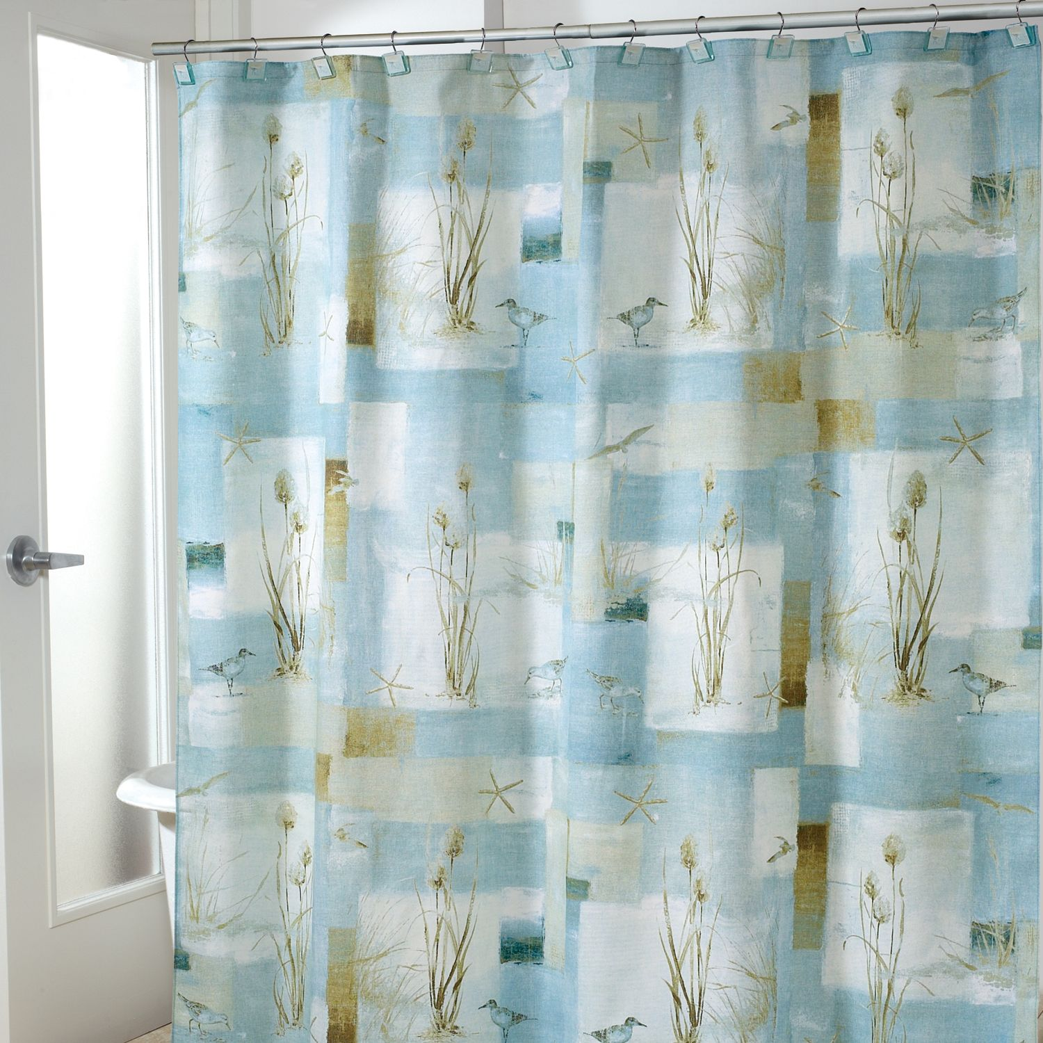 Exceptionnel Avanti Blue Waters Fabric Shower Curtain