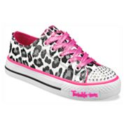 Skechers Twinkle Toes Shuffles Wild Onez Light-Up Shoes - Girls