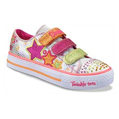 Skechers Twinkle Toes Shuffle Triple Up Light-Up Shoes - Girls