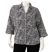 212 Collection Printed Shirt - Women's Plus