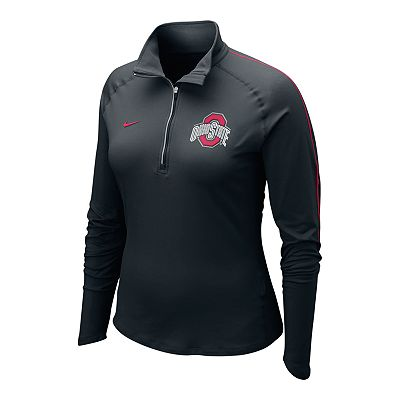 Nike Ohio State Buckeyes 1/2-Zip Element Dri-FIT Top - Women