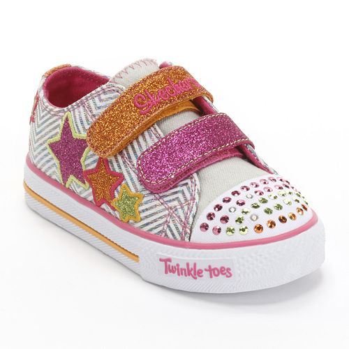 522e7e76a141 Skechers Twinkle Toes Shuffles Triple Up Toddler Girls  Light-Up Shoes