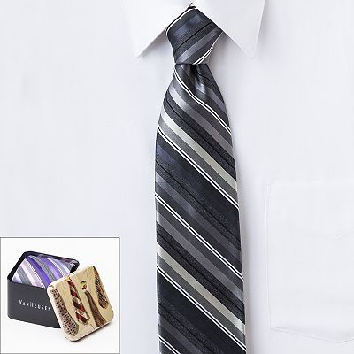 Van Heusen Striped Boxed Tie