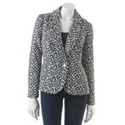 Sag Harbor Animal Jacquard Jacket - Petite