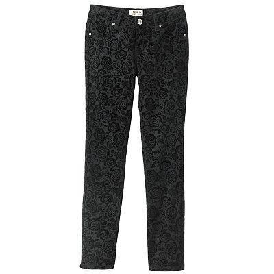Mudd Floral Flocked Jeggings - Girls Plus