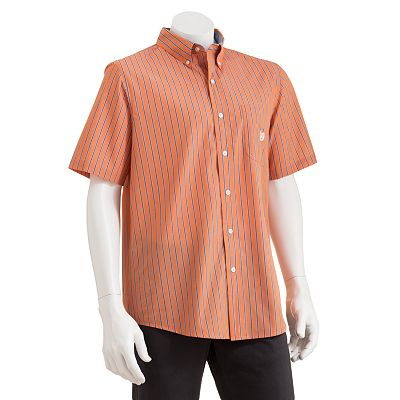 Chaps Easy-Care Brunswick Striped Casual Button-Down Shirt