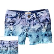 Mudd Dip-Dye Frayed Denim Shorts - Girls 7-16