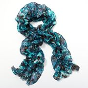 Simply Vera Vera Wang Abstract Ruched Scarf