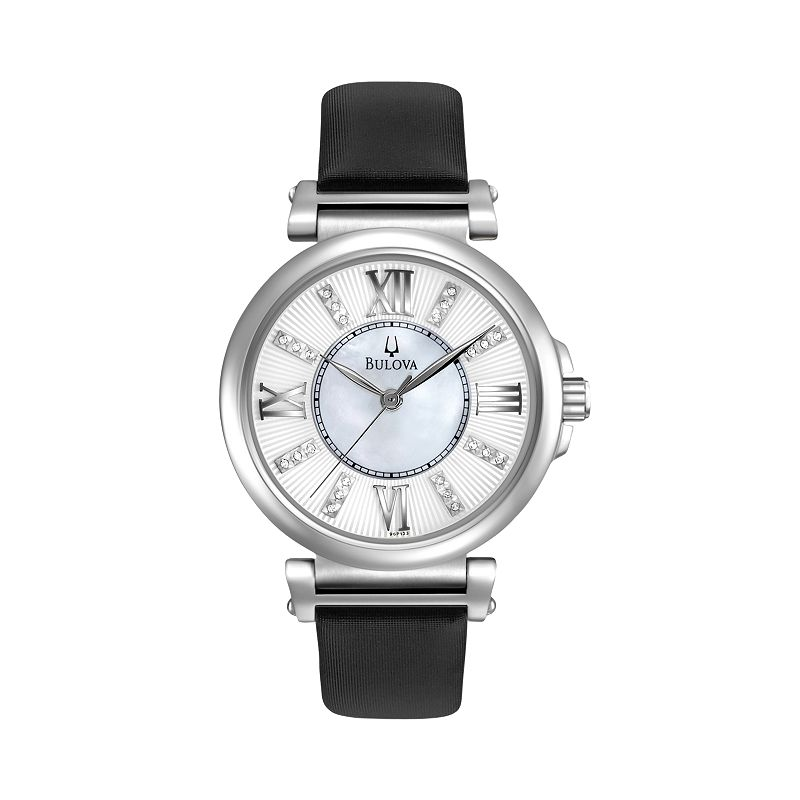Womens black leather watch kohl 39 s for Watches kohls