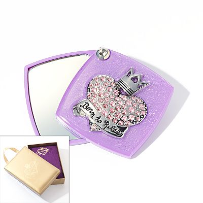 Princess Vera Wang Jet Simulated Crystal Heart Compact Mirror