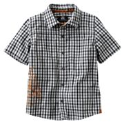 Rock and Republic Gingham Woven Button-Down Shirt - Boys 4-7x