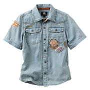 Rock and Republic Patch Denim Button-Down Shirt - Boys 4-7x