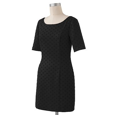 LC Lauren Conrad Dot Sheath Ponte Dress