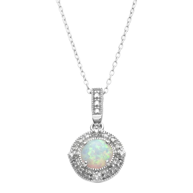pink gemstone opal necklaces jewelry kohl s