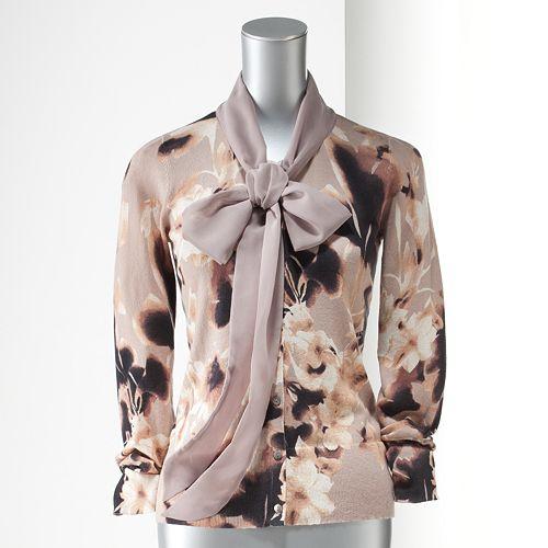Women's Simply Vera Vera Wang Floral Cardigan