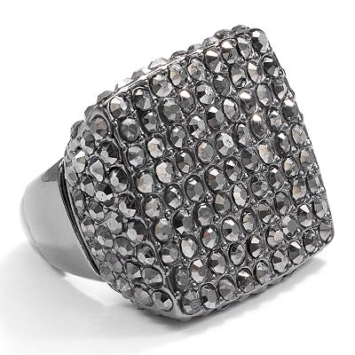 daisy fuentes Jet Simulated Crystal Stretch Ring