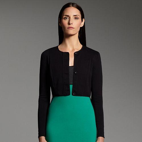Women's Narciso Rodriguez for DesigNation Crop Ponte Jacket