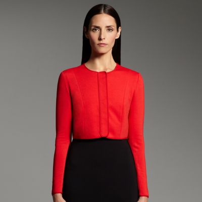 Narciso Rodriguez for DesigNation Crop Ponte Jacket