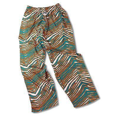 Zubaz Athletic Pants - Aqua and Orange