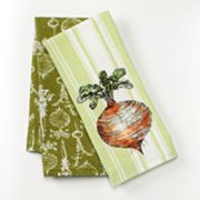 SONOMA life + style Radish Stripe 2-pk. Kitchen Towels