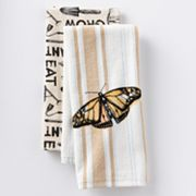 SONOMA life + style Sprout Butterfly Stripe 2-pk. Kitchen Towels