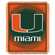 Miami Hurricanes Jacquard Throw Blanket by Northwest
