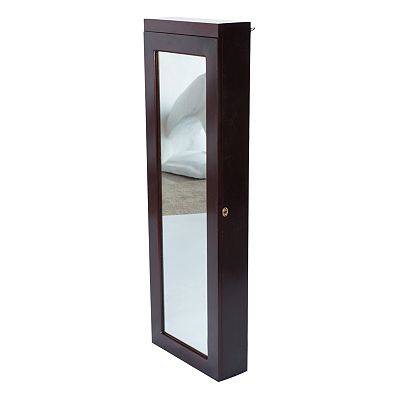 Dalton Over-The-Door LED Mirrored Jewelry Armoire