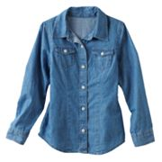 Mudd Denim Shirt - Girls 4-6x