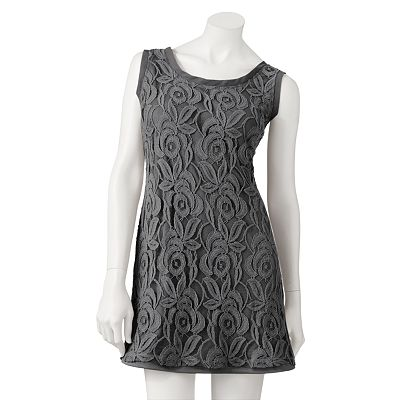 Eyelash Crochet Lace Dress - Juniors