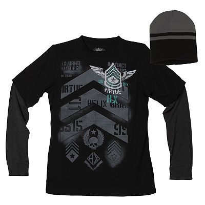 Helix Virtue Mock-Layer and Beanie Combo - Boys 8-20
