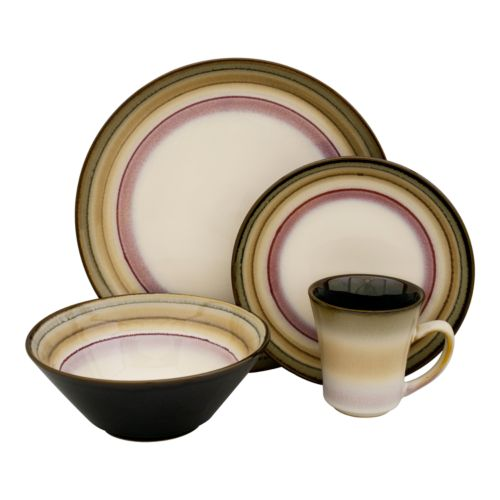 Sango Arcadia Black 16-pc. Dinnerware Set
