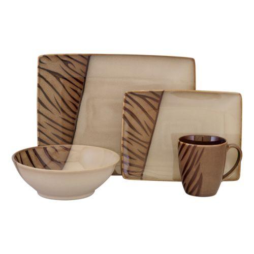 Sango Safari Brown 16-pc. Dinnerware Set
