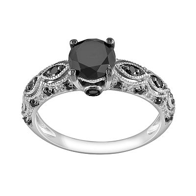 10k White Gold 1 1/4-ct. T.W. Black Diamond Ring