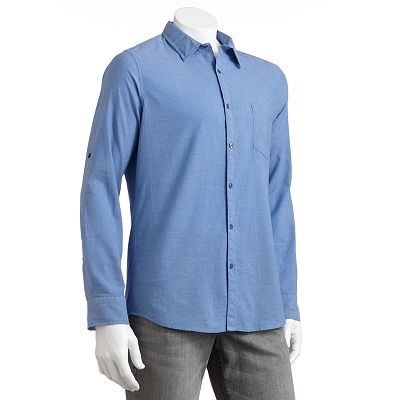 Marc Anthony Chambray Casual Button-Down Shirt