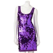 Eyelash Sequin Sleeveless Dress - Juniors