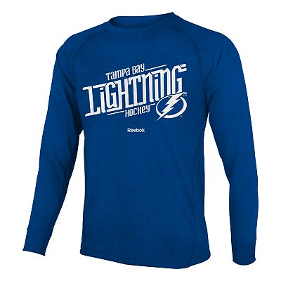 Reebok Tampa Bay Lightning Custom Hockey Tee - Boys 8-20
