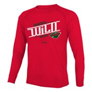 Reebok Minnesota Wild Custom Hockey Tee - Boys 8-20