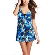 Croft and Barrow Fit for You Body Sculptor Splatter Swimdress