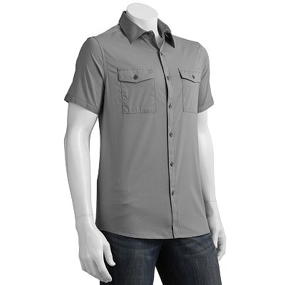 Marc Anthony Stretch Woven Casual Button-Down Shirt