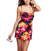 Croft and Barrow Fit for You Body Sculptor Floral Swimdress