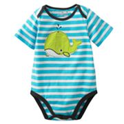 Jumping Beans Whale Striped Bodysuit - Baby