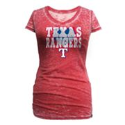 Texas Rangers Burnout Tee - Women
