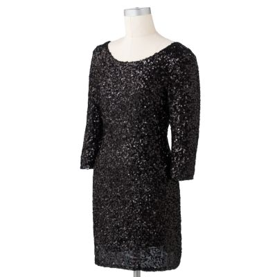LC Lauren Conrad Sequin Sheath Dress
