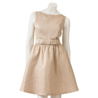Lc lauren conrad lurex jacquard fit and flare dress
