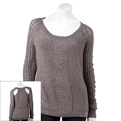Rock and Republic Lurex Cutout Sweater