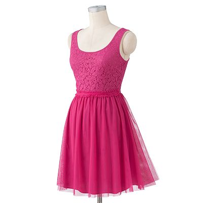 LC Lauren Conrad Lace Tulle Dress
