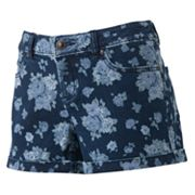 LC Lauren Conrad Floral Denim Shorts